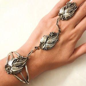 Vintage Sterling Silver Slave Bracelet